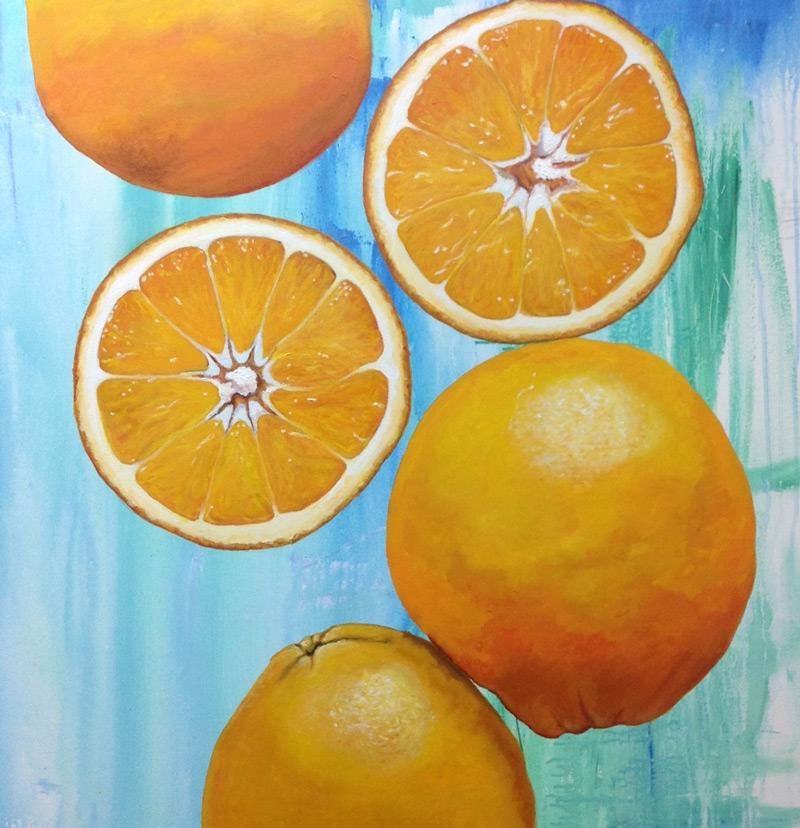 Lluvia de naranjas