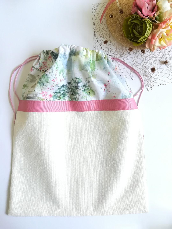 Bolsa hecha a mano con estampado japonés