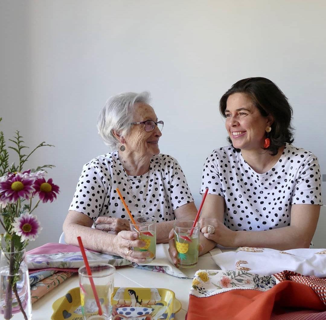 Raquel y Florencia, socias de retales de colores, en Tinart